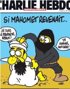 blog -Charb et Mahomet egorge-dessin de Charlie hebdo