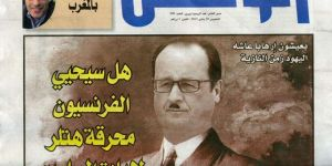 blog -moustache d Hitler sur Hollande-capture decrane Watan-30jan2015