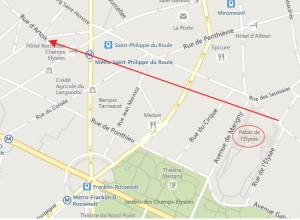 blog -plan Paris-rue de Duras vers rue d Artois