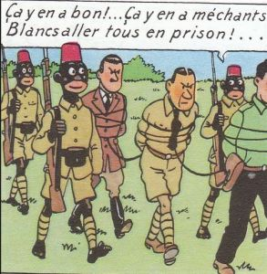 blog -Tintin au Congo-mechants Blancs ts en prison