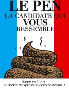 Dessin non signé, en hommage aux électeurs du FN, publié par Charlie hebdo