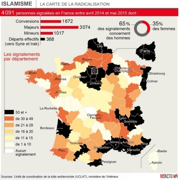 blog -islamisme-en-france-carte de la radicalisation 2016