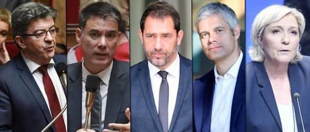 blog -L Emission politique-cinq invites-2 rejetes Hamon et Dupont-Aignan-mai2018