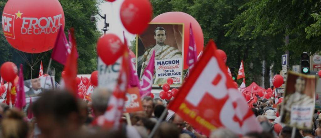blog -Macron 1er fustige par la maree populaire du 26 mai 2018