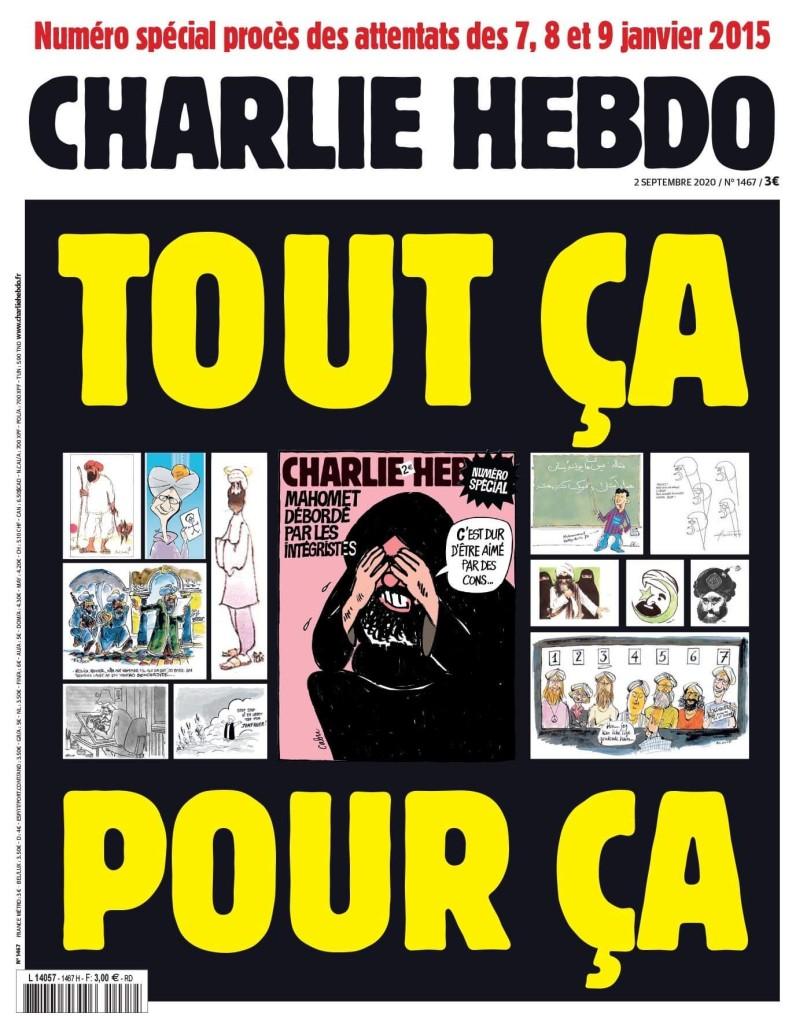 La une du numéro du 2 septembre 2020 de «Charlie Hebdo».